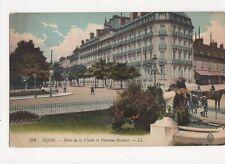 Dijon Hotel de la Cloche & Fontaine Blondat Vintage Postcard  206a