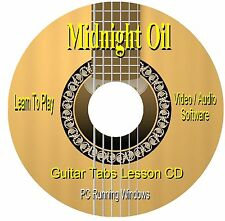 Midnight Oil *GUITAR TABS * Lesson Software CD