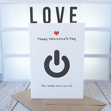 Funny Valentines Day Card, Valentine, Love, Greetings Card, You Turn Me On