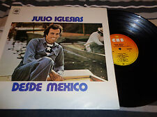 Julio Iglesias ‎– A Mexico LP COLOMBIA Press 1975 CBS RARE MISPRINT(DESDE)