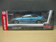 2004 Pontiac GTO American Muscle 1:18 Blue Car & Driver 03 Cover Car Auto World