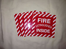 "VINYL SELF ADHESIVE STICKER 4""X 4"" FIRE EXTINGUISHER INSIDE (QTY OF 10)"
