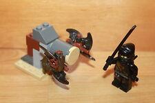 Lego Ninjago - schwarzer Ninja COLE Figur mit Schwert Trainings Box aus Set 2263
