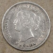 Canada 1890-H Five Cents Midgrade Coin Cleaned