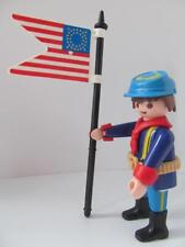 Playmobil union soldat avec drapeau new extra figure for western sets