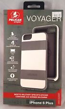 NEW!!! Pelican Progear Voyager Case w/Holster for iPhone 6 Plus - White / Gray