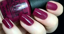 NEW! OPI NAIL POLISH Nail Lacquer in JUST BECLAUS ~ Deep Maroon Creme ~ Holiday