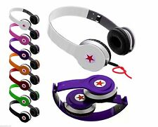 Foldable Stereo DJ Style Headphones Earphone Headset Over Ear MP 3/4 iPod iPhone