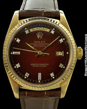 ROLEX VINTAGE DAY DATE PRESIDENT 18038 RED VIGNETTE DIAL 1978