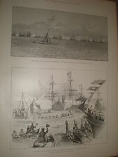 Arrival the King Louis Philippe and France navy Portsmouth in 1844 1891 print