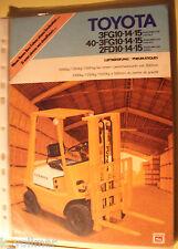 ✪Sales Brochures PROSPEKT Toyota Gabelstapler 3FG10, 40-3FG10,2FD10  incl.techn.