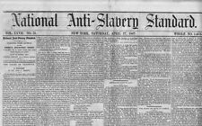 NATIONAL ANTI SLAVERY STANDARD 1867 NEWSPAPER WENDELL PHILLIPS NEGROES SUFFRAGE