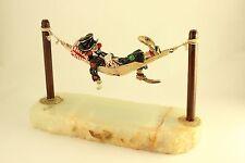 Vtg 1983 Ron Lee Hobi in His Hammock Onyx Sculpture Great Retirement Gift Signed