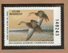 LA6 - Louisiana State Duck Stamp. MNH. OG.