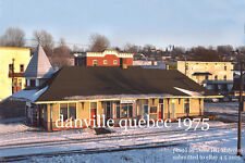 "Canadian National Rwy  Danville Quebec 1975 4x6"" photo"