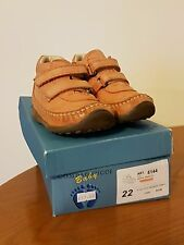CAMPAGNUCCI Baby Leather Double Velcro Boots. Size 22 / UK 5 Infant
