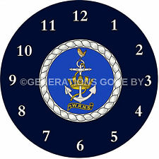 WOMENS ROYAL NAVAL SERVICE (WRNS) GLASS WALL CLOCK