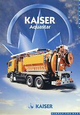 Prospekt Kaiser Aquastar 2002 Kommunalfahrzeug LKWs Nutzfahrzeug brochure