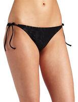 FOX RACING WOMENS SWIMWEAR TRILLIANT SIDE TIE BOTTOMS BLACK swimsuit bikini