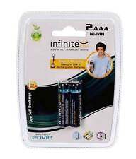 ENVIE 1100MAH AAA 2NOS INFINITE RECHARGEABLE CAMERA BATTERY + warnty