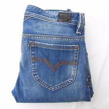 DIESEL Thanz SZ 33 x 30 Wash 008AR Blue Slim Fit Distressed Destroyed Jeans