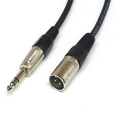 Balanced Patch Lead Cable XLR Male to TRS Jack 0.15m