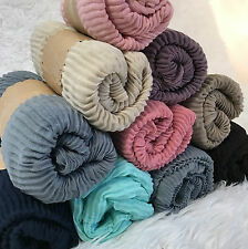 Scarf Hijab Viscose muslim fashion Islamic Arabic Shawl Cotton Solid Head Cover