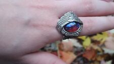 Angel Wing Ring with Dragon's Breath Fire Opal Stunning Victorian SALE