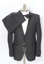 CORNELIANI Black Metallic Wool 3PC Slim Fit Tuxedo Suit 54 44 44 R / 42 R NWT!