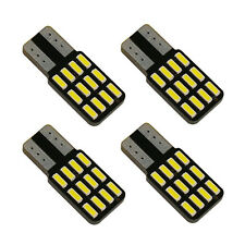 4x T10 W5W 194 168 4014 Canbus Lamps Error Free Car Interior Light Source White