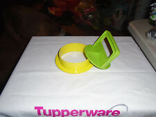 Tupperware Brand New Large Green Hamburger Press ( Ring and Press)