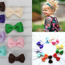 10pcs Baby Girls Bow Hairband Soft Elastic Headband Headwear Hair Accessories