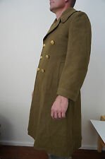 Vtg 1938 WWII US Army Long Wool Trench Coat Army Military issue Overcoat 36R?