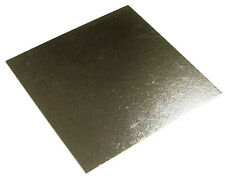 """50 x 6"""" Inch Square Silver Cake Board 3mm DOUBLE THICK"""