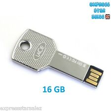 ✸ Silver LaCie 16GB ✸ Key Design ✸ USB Flash Drive ✸ BRAND NEW ✸ FREE P&P