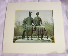 HENRY MOORE (1898-1986) Signed Picture of Bronze Statue KING and QUEEN  PSA/DNA
