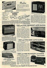 1951 ADVERT Setchell Carlson Radio Headboard Personalized Removable Speaker
