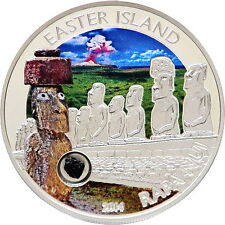 Cook 2014 Easter Island Rapa Nui 5 Dollars Colour Silver Coin,Proof