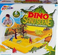 Childrens Kids Pretend Play Dinosaur Island Quick Magic Moving Sand Scene 500G