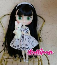 Factory Middie Type Blythe Doll Black Hair -  Jointed, Outfit, Accessory
