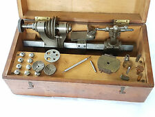 G BOLEY WATCHMAKERS JEWELLERS LATHE PATENT #5237 BEVELLED BED 257MM BOXED+TOOLS