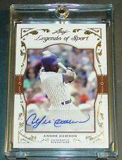 2011 LEAF LEGENDS OF SPORT ANDRE DAWSON HOF BA-5 AUTO  4/5