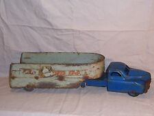 Vintage 1940s Buddy l  Fast Fresh Semi Truck and Trailer Rare