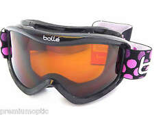 BOLLE Childrens Kids 6-12 VOLT Ski Snow Goggles BLACK DOTS/ Citrus Dark 21087