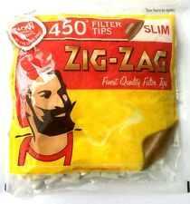 ZIG ZAG Resealable Large Bag 450 SLIM Cigarette Rolling Cig Smokers Filter Tips