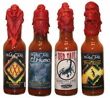 Hot Sauce Gift Set Package Hottest Ghost Pepper Scorpion Wax Seal Hot Collection