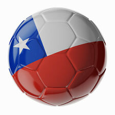 WORLDCUP 2014 SOCCERBAL DECAL CHILE 90MM BY 90MM GLOSS LAMINATED CONTOUR CUT