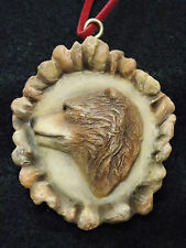 Carved Antler Burr Replica Ornament - Bear - 2504