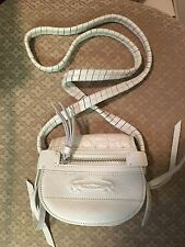 Lacoste White Leather Crossbody Strap Bag Purse
