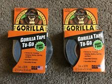 """(CL) 2 Gorilla Duct Tape To-Go, 1"""" x 30 ft, Black"""